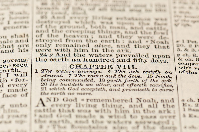 Текст от библии стоковые фото