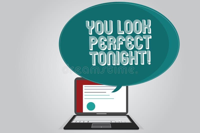 Текст почерка писать вам выглядеть идеальный сегодняшний вечер Чувства благодарности красоты смысла концепции Flirting roanalysis иллюстрация вектора