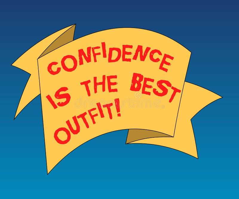 Текст почерка писать доверие самое лучшее обмундирование Концепция знача самоуважение выглядит лучшей в вас чем одежды бесплатная иллюстрация