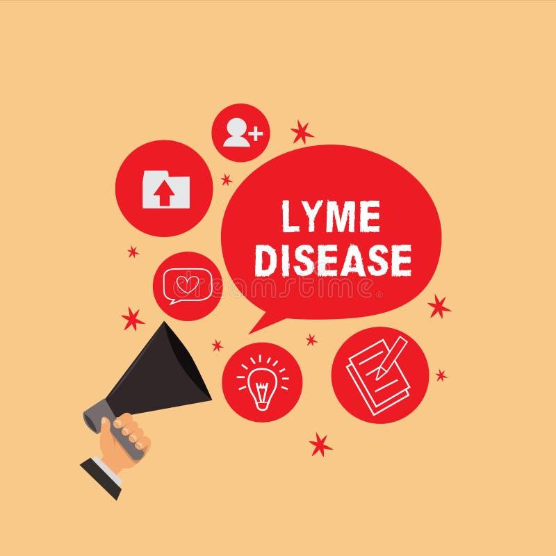 Текст почерка писать заболевание Lyme Форма смысла концепции артрита причиненная бактериями которые получать тиканиями иллюстрация вектора