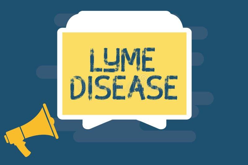 Текст почерка писать заболевание Lyme Форма смысла концепции артрита причиненная бактериями которые получать тиканиями бесплатная иллюстрация