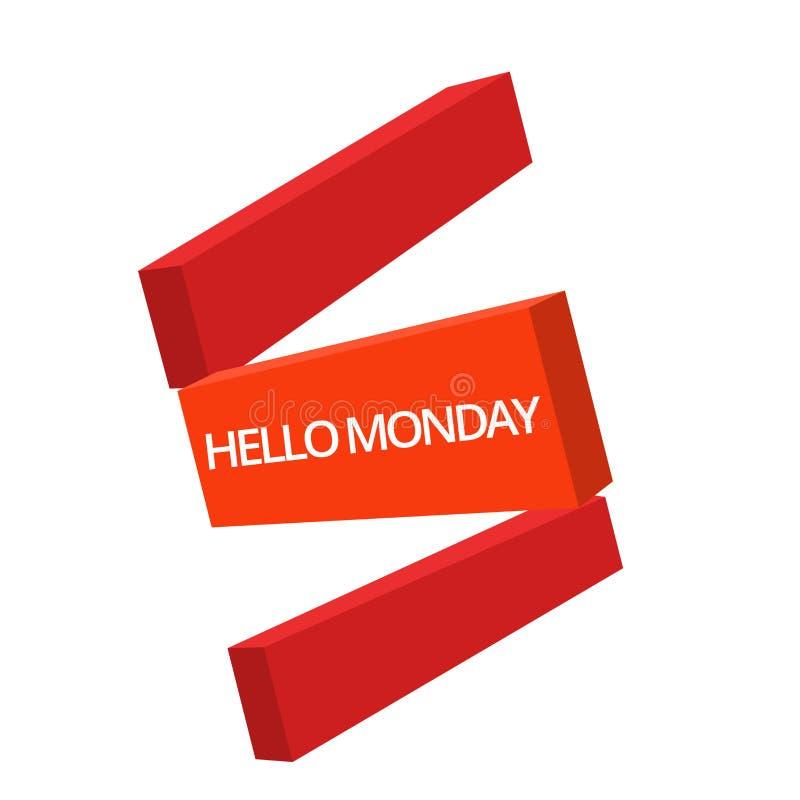 Текст почерка писать здравствуйте понедельник Сообщение смысла концепции приветствуя положительное для нового начала недели дня бесплатная иллюстрация