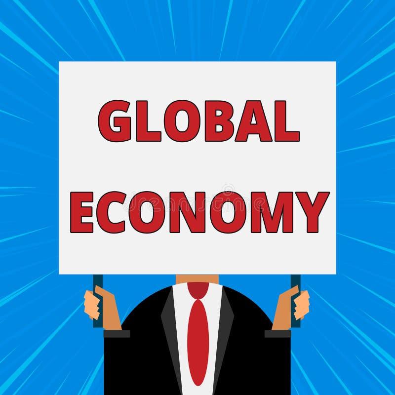 Текст почерка писать международную экономику Система смысла концепции капитализма индустрии и торговли по всему миру как раз бесплатная иллюстрация