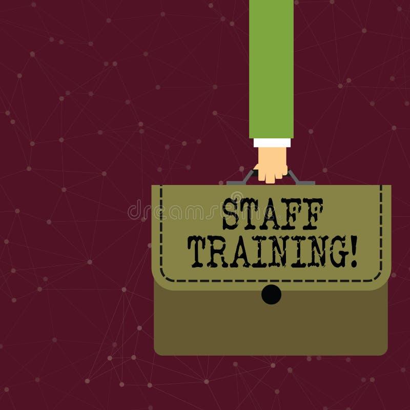 Текст почерка писать подготовку персонала Программа смысла концепции которая конструирована для увеличения технических навыков иллюстрация вектора