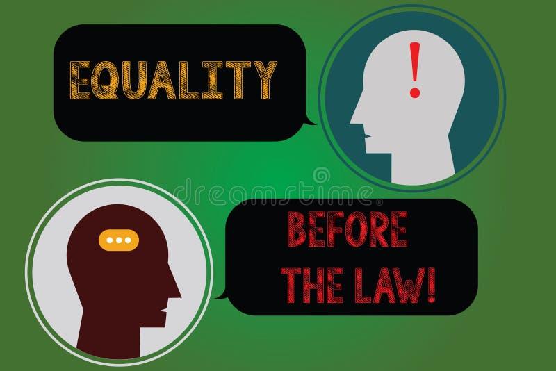 Текст почерка писать равенство перед законом Концепция знача права предохранения от баланса правосудия равные для каждого иллюстрация штока