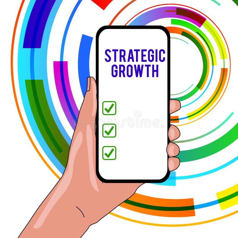Текст почерка писать стратегический рост Значить концепции создает план или расписание для увеличения запасов или улучшения бесплатная иллюстрация