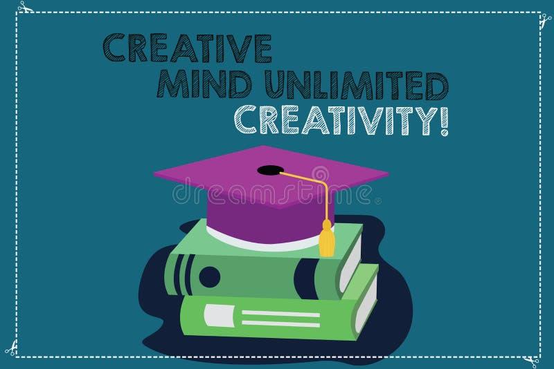 Текст почерка писать творческому разуму неограниченные творческие способности Смысл концепции полный мозга оригинальных идей гени бесплатная иллюстрация