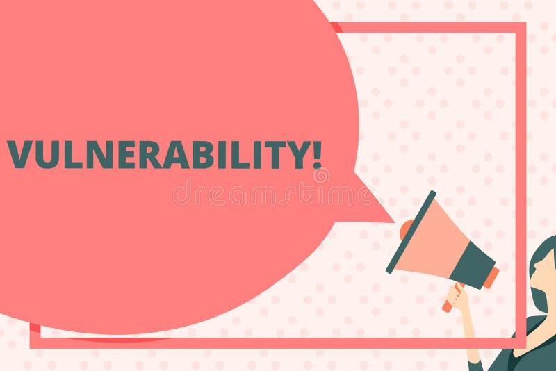 Текст почерка писать уязвимость Концепция знача системы подверженности информации прослушивает атакующего эксплуатирования иллюстрация штока