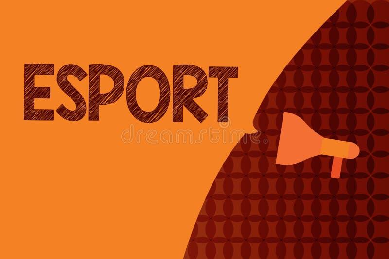 Текст почерка писать Esport Концепция знача предназначенную для многих игроков видеоигру сыграла конкурсно для зрителей и потехи иллюстрация вектора