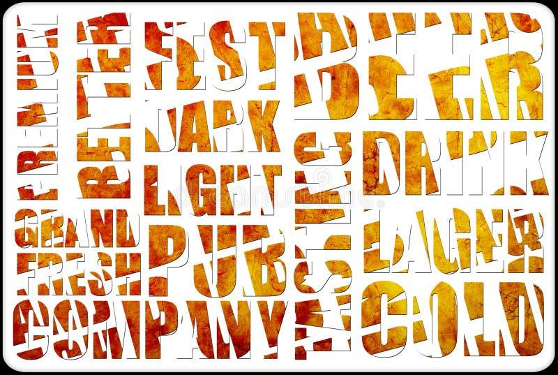 Текст предпосылки пива бесплатная иллюстрация