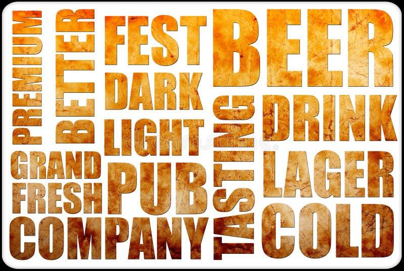 Текст предпосылки пива иллюстрация вектора