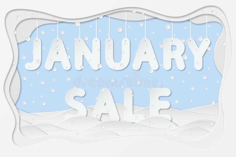 Текст продажи в январе иллюстрация вектора