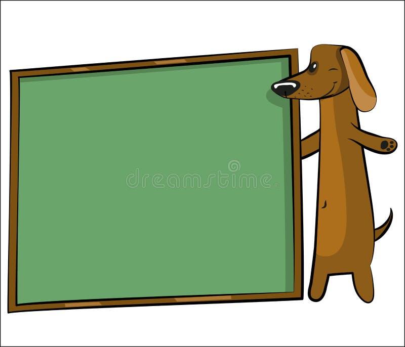 текст собаки шаржа знамени бесплатная иллюстрация
