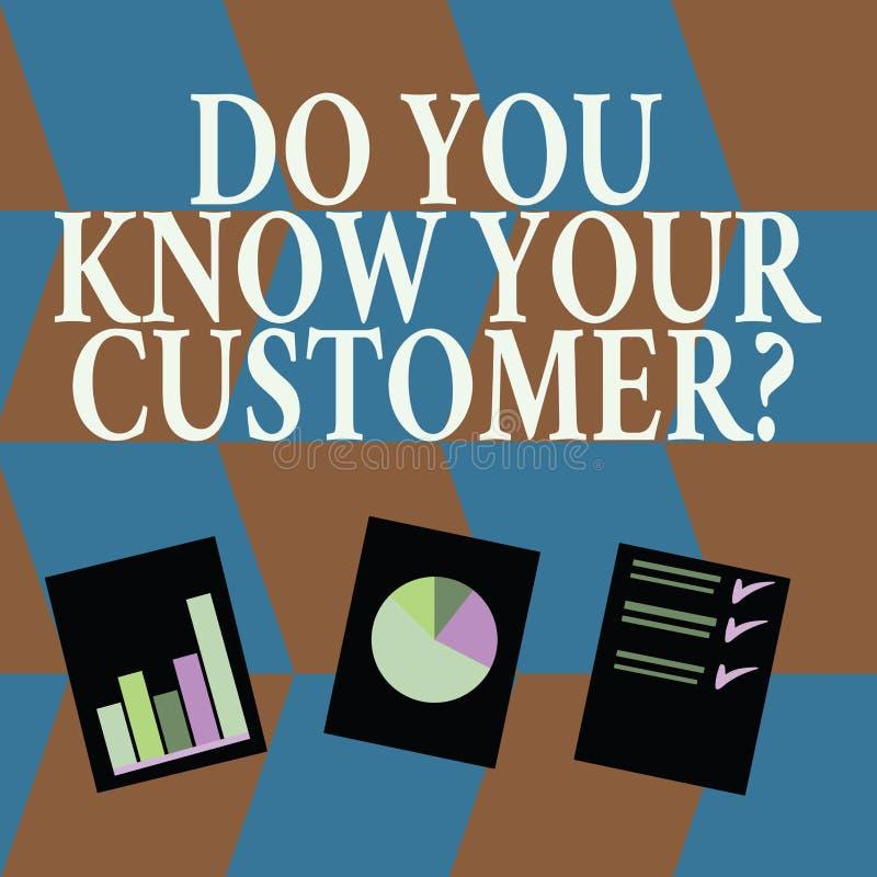 Текст сочинительства слова вы знаете ваш вопрос о клиента Концепция дела для обслуживания определить клиентов с уместным бесплатная иллюстрация