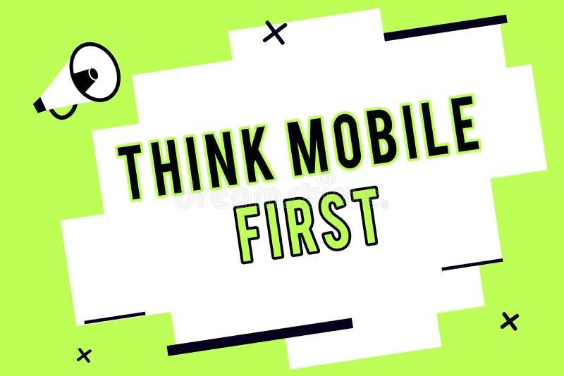 Текст сочинительства слова думает концепция дела черни первая на содержание 24 или 7 легкого Handheld прибора доступное сподручно бесплатная иллюстрация