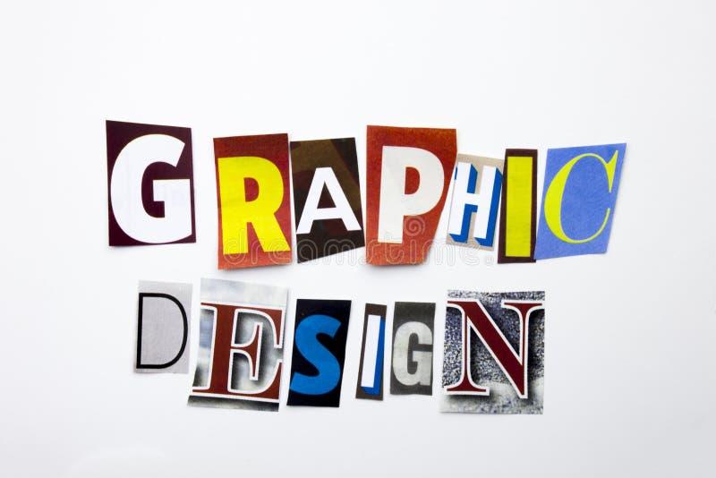 Текст сочинительства слова показывая концепцию графического дизайна сделанную различного письма газеты кассеты в случай дела на б стоковая фотография rf