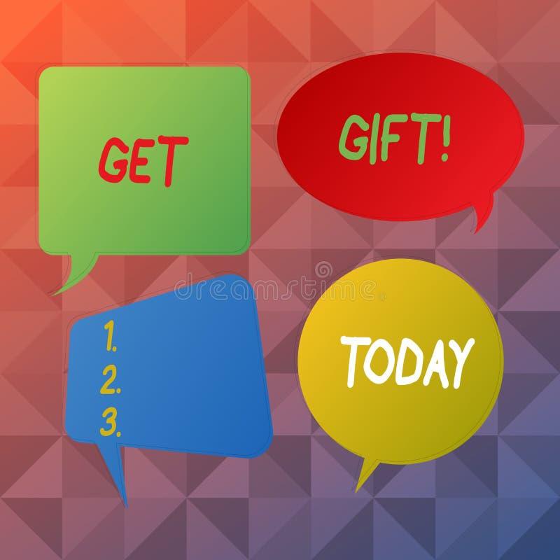 Текст сочинительства слова получает подарок Концепция дела для что-то которое вы даете без получать что-нибудь в обмен пустую реч бесплатная иллюстрация