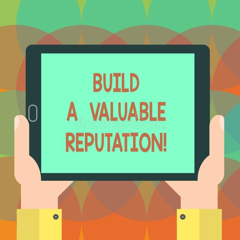 Текст сочинительства слова построить ценную репутацию Концепция дела для хорошего обслуживания для большего клиента рассматривает бесплатная иллюстрация