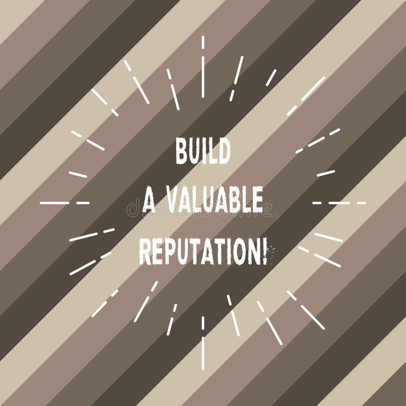 Текст сочинительства слова построить ценную репутацию Концепция дела для хорошего обслуживания для луча больших обзоров клиента т иллюстрация штока