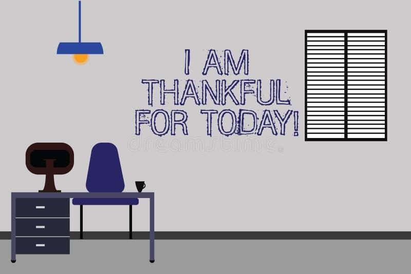 Текст сочинительства слова я благодарен для сегодня Концепция дела для признательного о жить одно больше места для работы общего  бесплатная иллюстрация