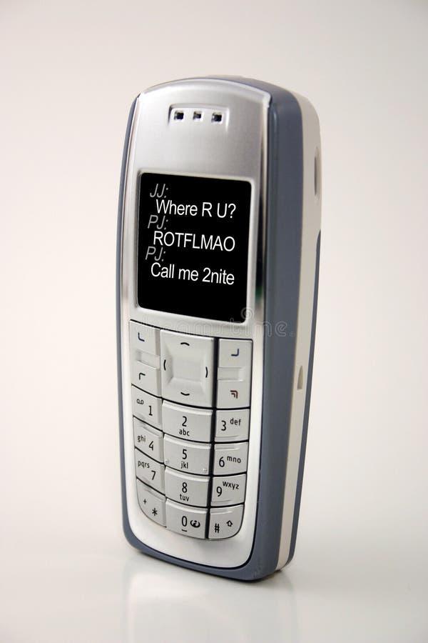 текст телефона сообщения мобильного телефона Im клетки Стоковое Фото