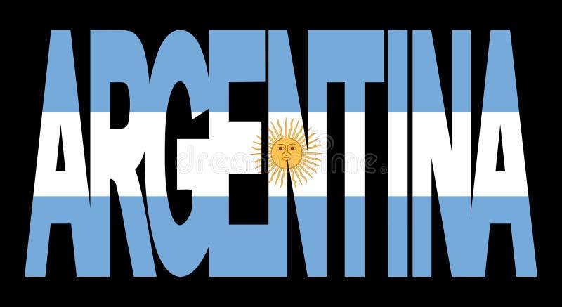 текст флага Аргентины иллюстрация штока