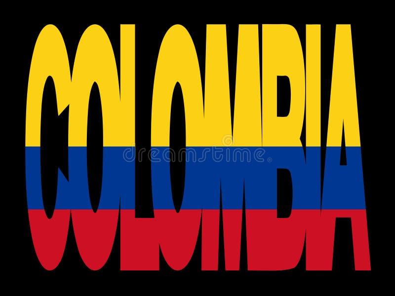 текст флага Колумбии иллюстрация вектора