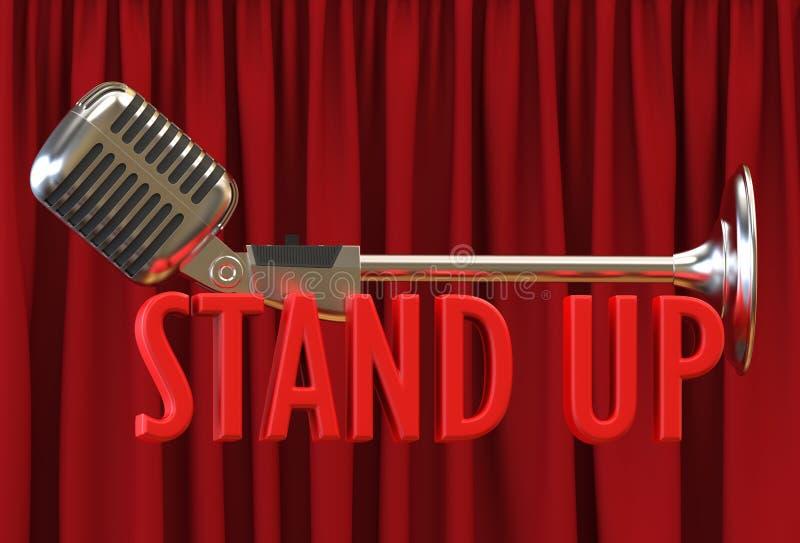 Текст фона занавеса микрофона красный стоит вверх стоковое фото rf