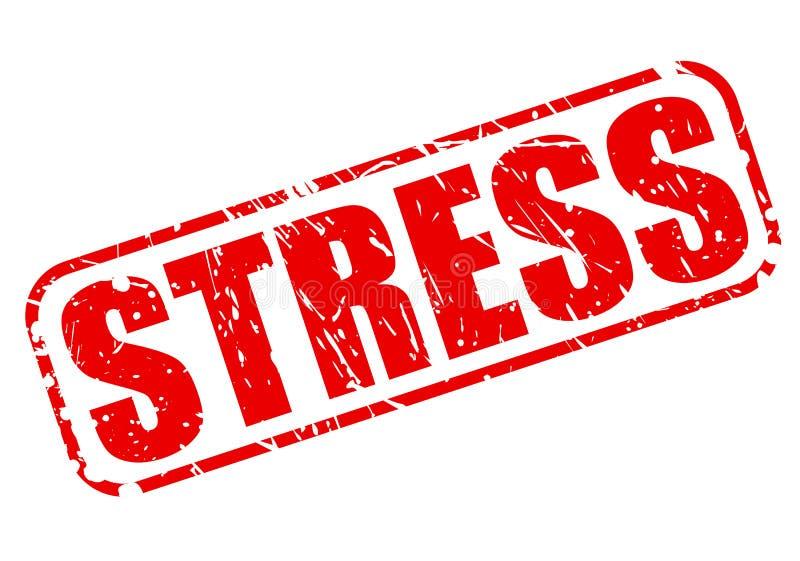 Текст штемпеля стресса красный бесплатная иллюстрация
