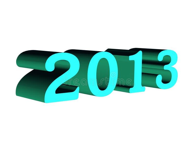 текст 2013 3d иллюстрация вектора