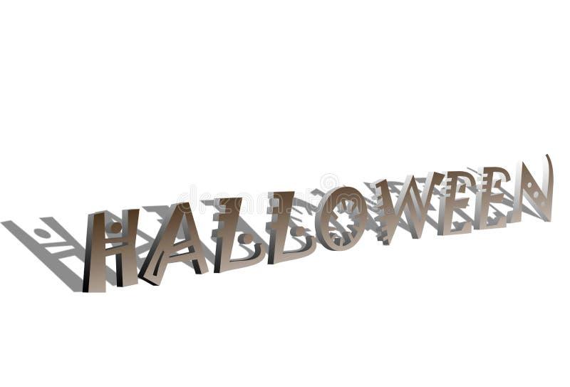 текст 3d halloween иллюстрация вектора