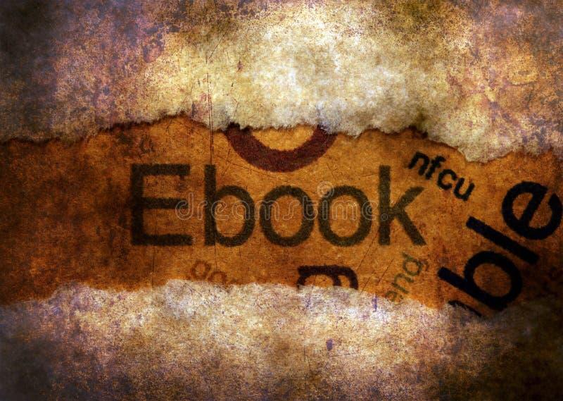 Текст EBook на отверстии бумаги бесплатная иллюстрация
