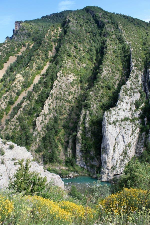 Тектоническая горная порода в долине Solana стоковое изображение rf
