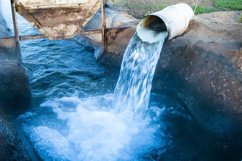 текущая вода стоковая фотография