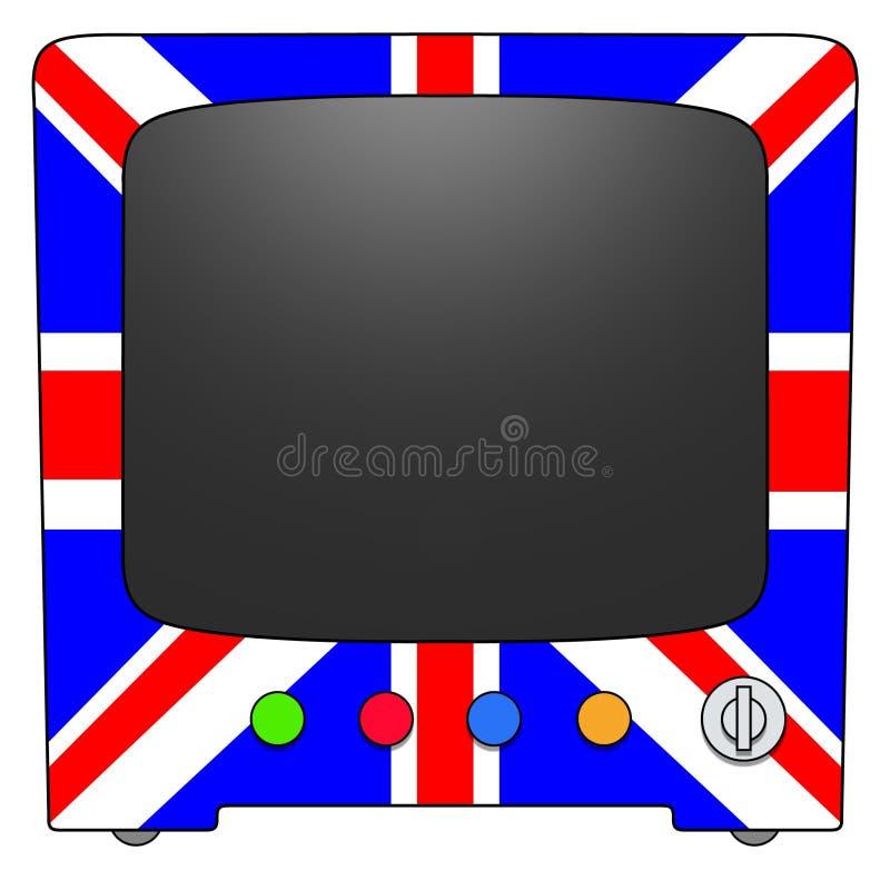телевидение Великобритания иллюстрация вектора