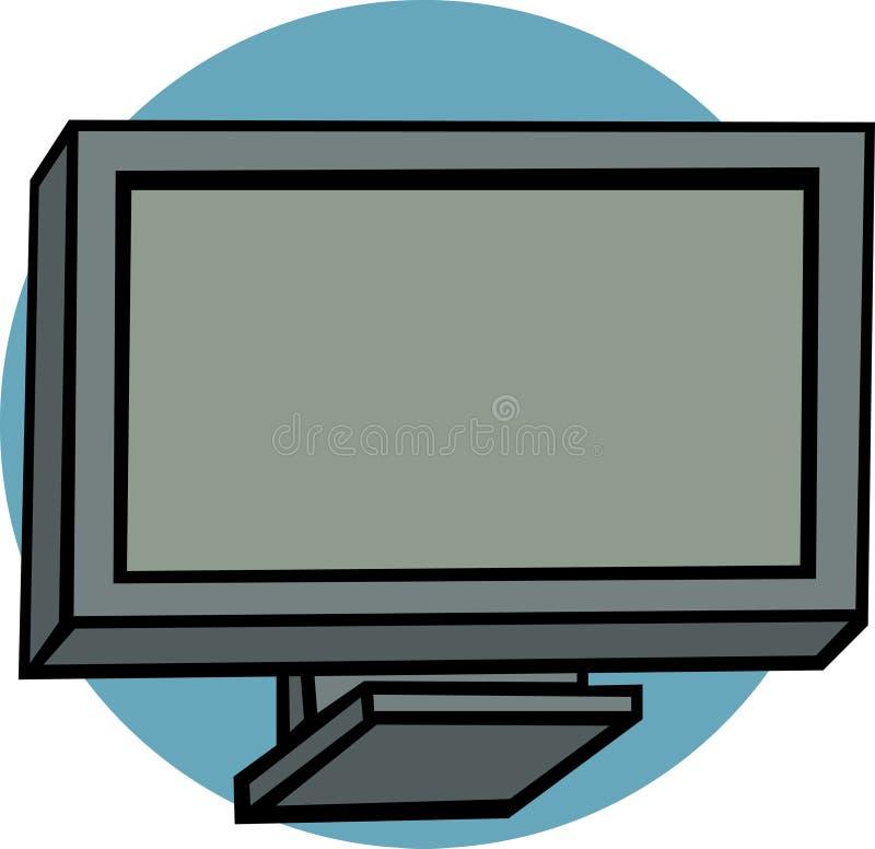 телевидение плазмы lcd иллюстрация штока
