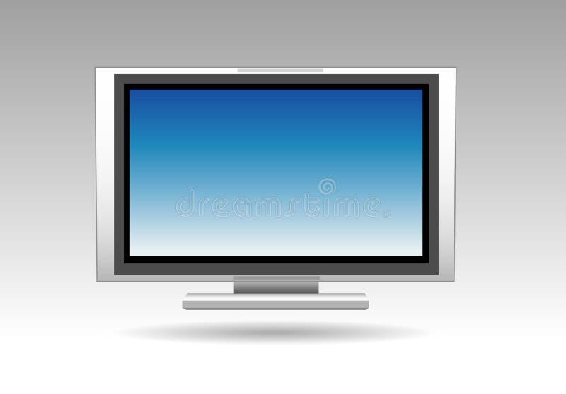 телевидение плоское экран иллюстрация вектора