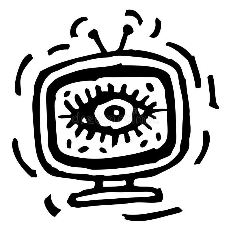 телевидение старшего брата иллюстрация вектора