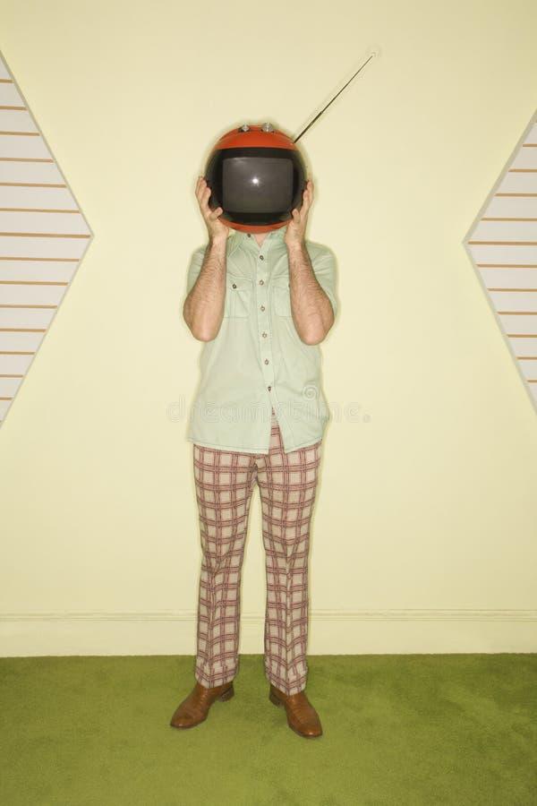 телевидение стороны заволакивания стоковые изображения rf