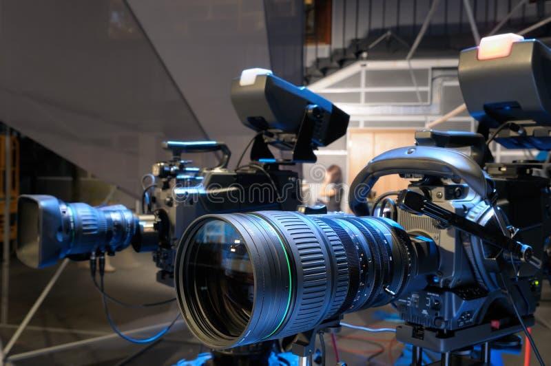 телевидение студии камер стоковая фотография