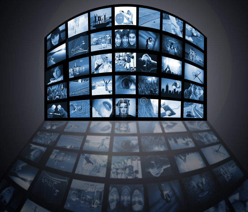 телевидение технологии средств стоковые фото