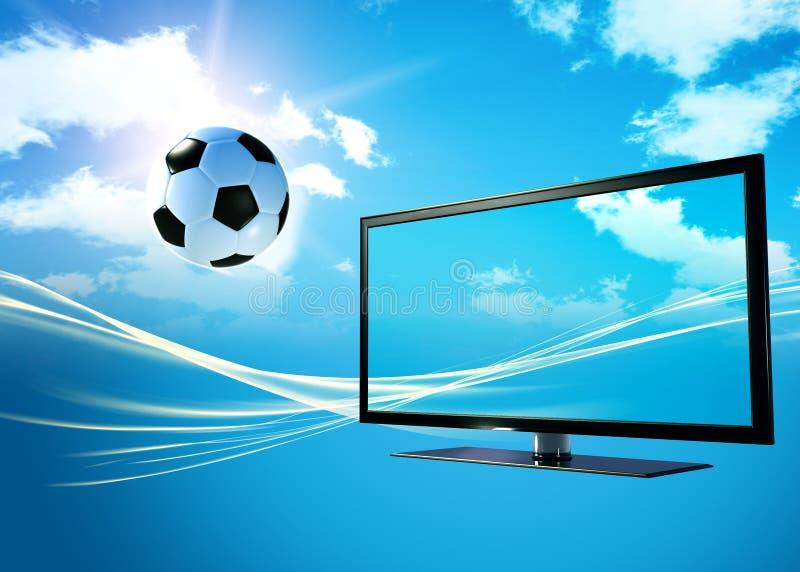 телевидение футбола шарика бесплатная иллюстрация