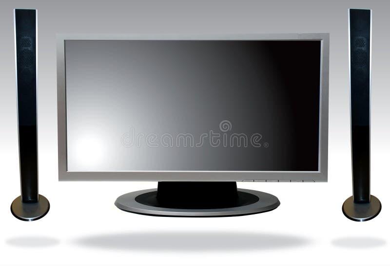 телевидение lcd стоковое изображение rf