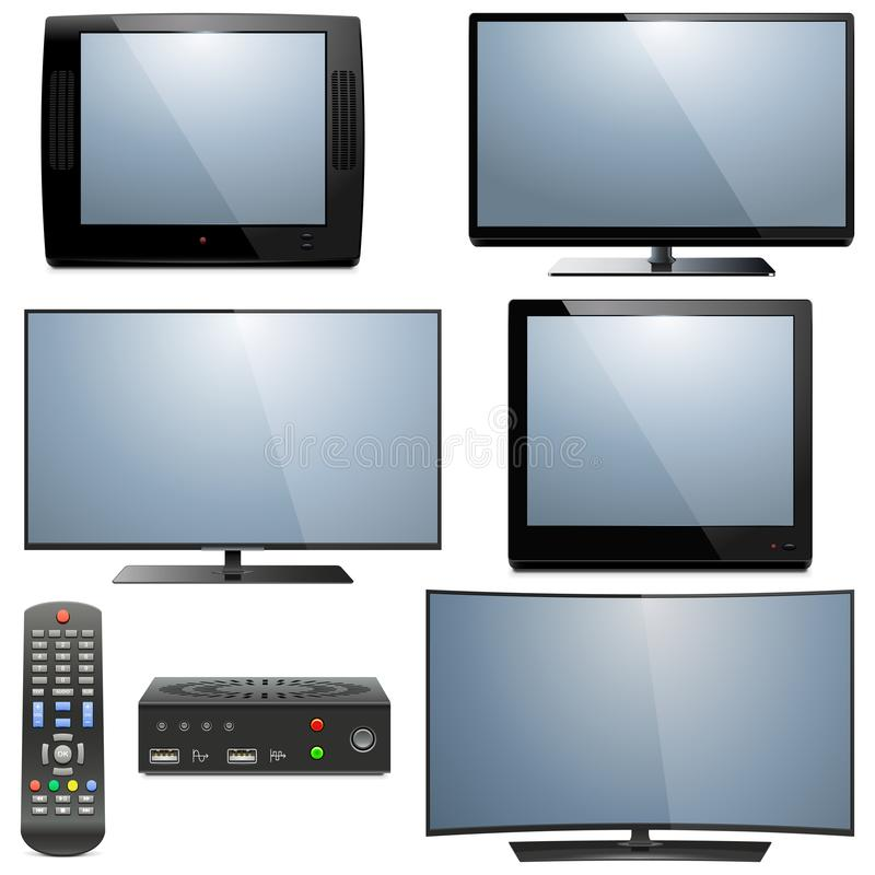 Телевидения вектора сетноые-аналогов и цифровые бесплатная иллюстрация