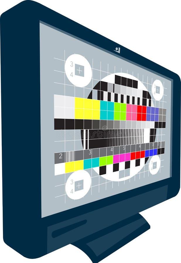 Телевизионная испытательная таблица телевидения TV плазмы LCD иллюстрация штока