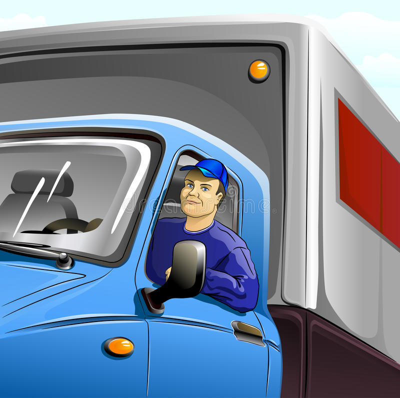 тележка водителя будочки иллюстрация вектора