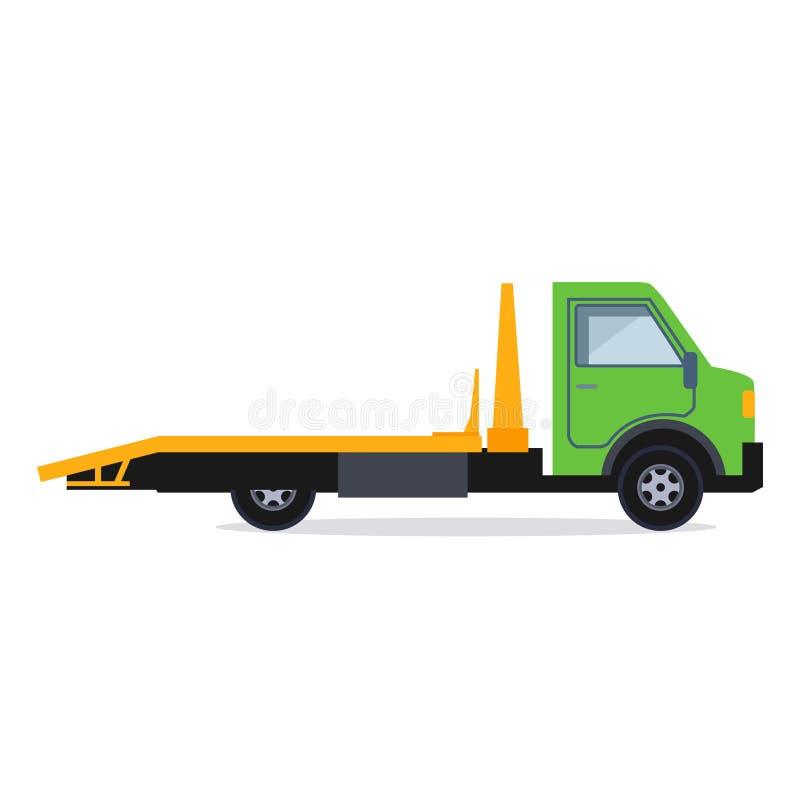 тележка перевозки автомобилей непредвиденная небезупречная иллюстрация вектора