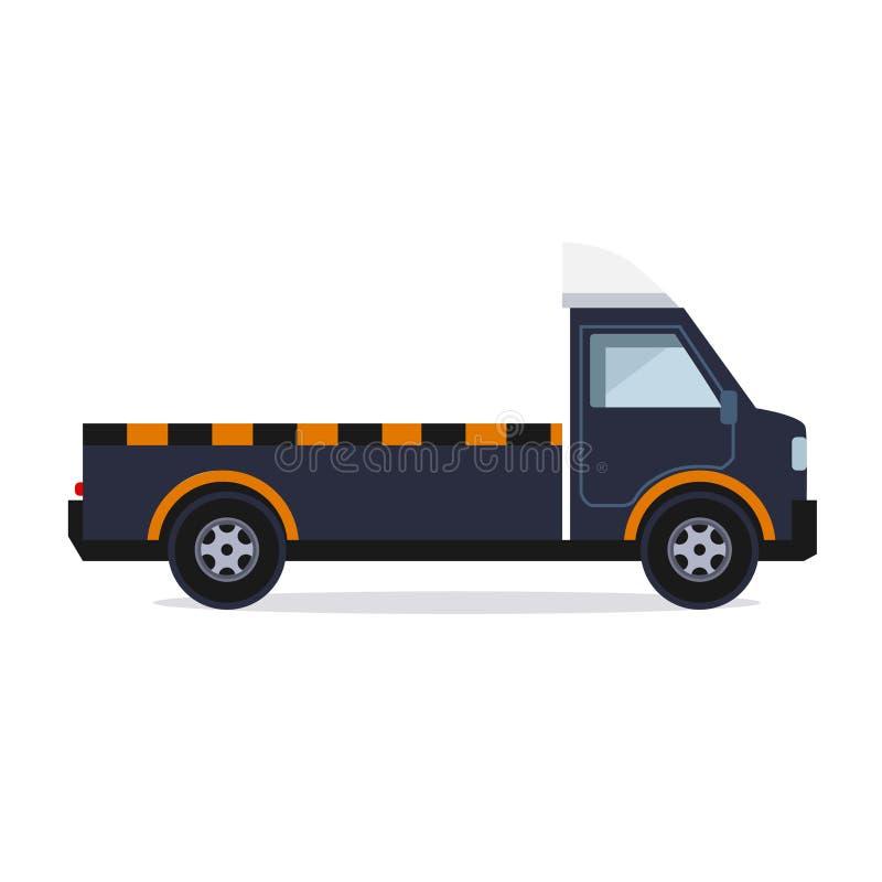 тележка перевозки автомобилей непредвиденная небезупречная иллюстрация штока