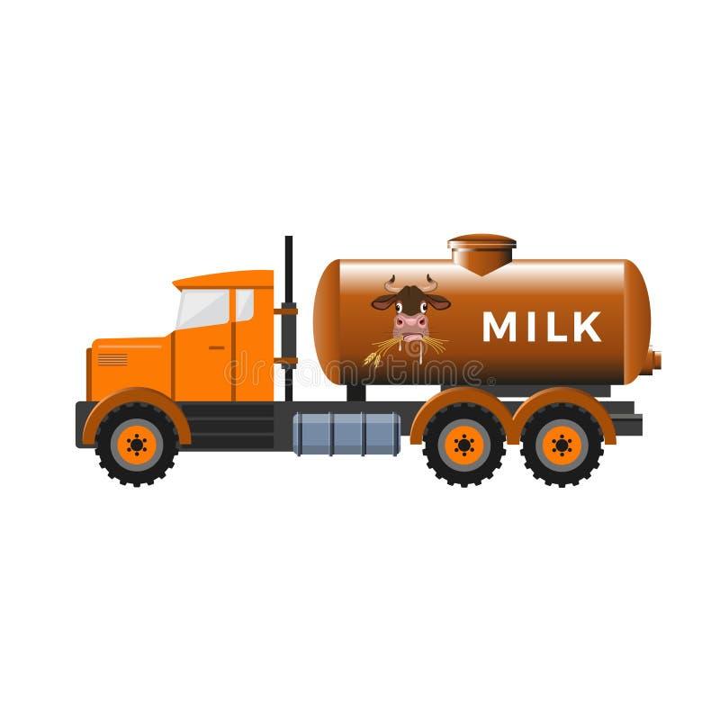 Тележка танка молока бесплатная иллюстрация