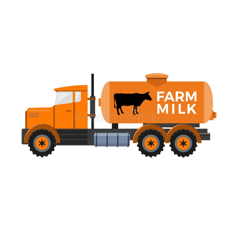 Тележка танка молока иллюстрация штока